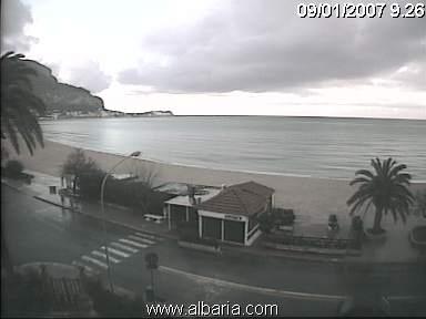 Mondello webcam - Mondello - Vista sul Golfo e sulla spiaggia webcam, Sicily, Palermo